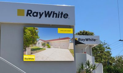 Ray White - Bribie Island - Wall Mounted LED Sign