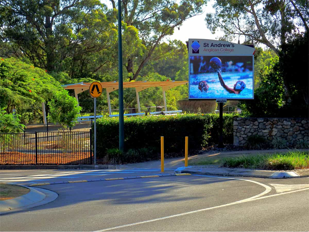 St Andrew's Anglican College - Peregian Springs - Post mounted LED Sign-
