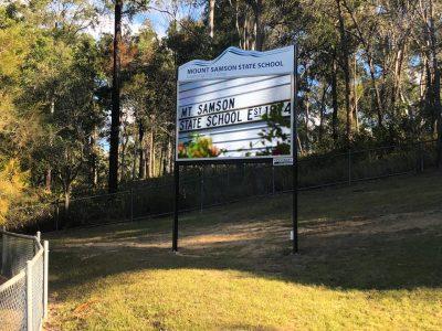 Mount Samson State School - Mount Samson - LED Pylon Sign
