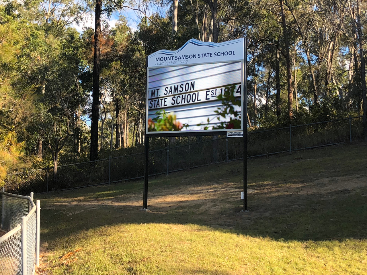 Mount Samson State School - Mount Samson - LED Pylon Sign