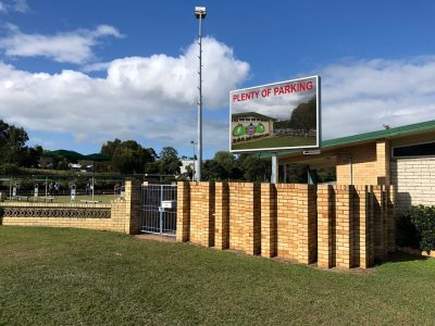 Northern Suburbs Bowls Club - Wavell Heights - Pylon mounted LED Sign