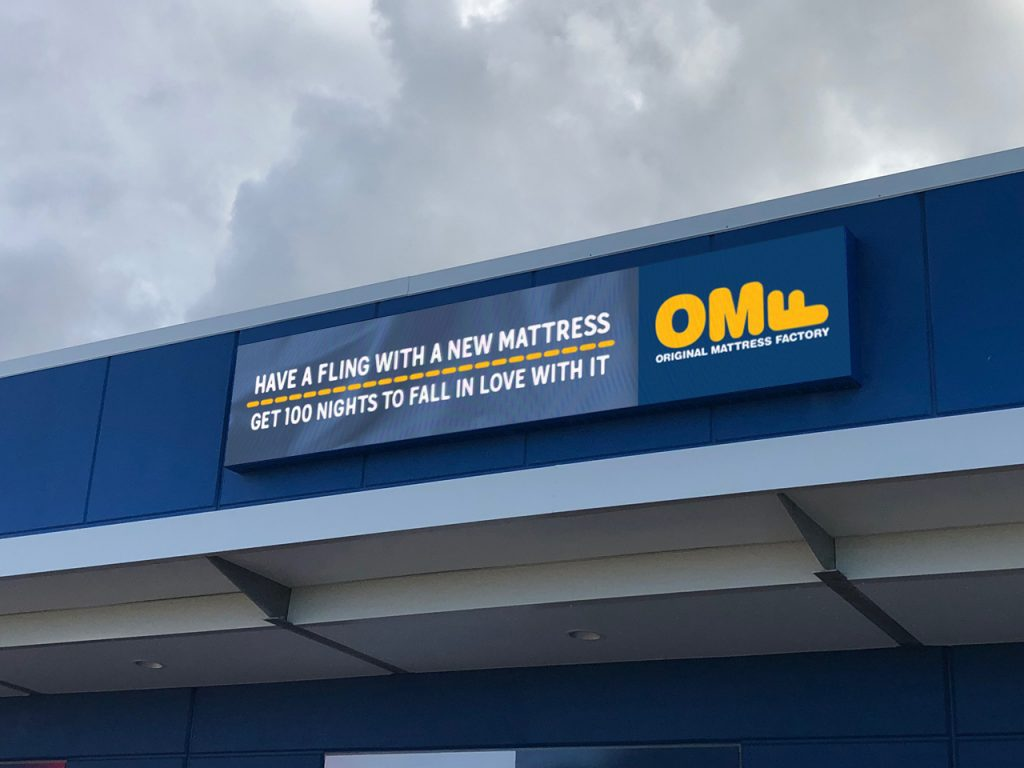 OMF Wall Sign- Helensvale