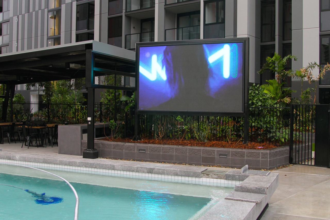 The Yards - Bowen Hills - Pool side LED TV