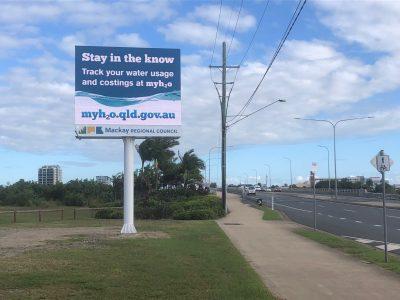 Mackay Council Pylon Sign - Barns Creek Rd
