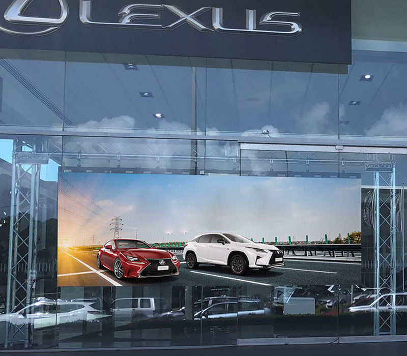 High Impact In-window/Showroom LED Screen for hire - Voxson