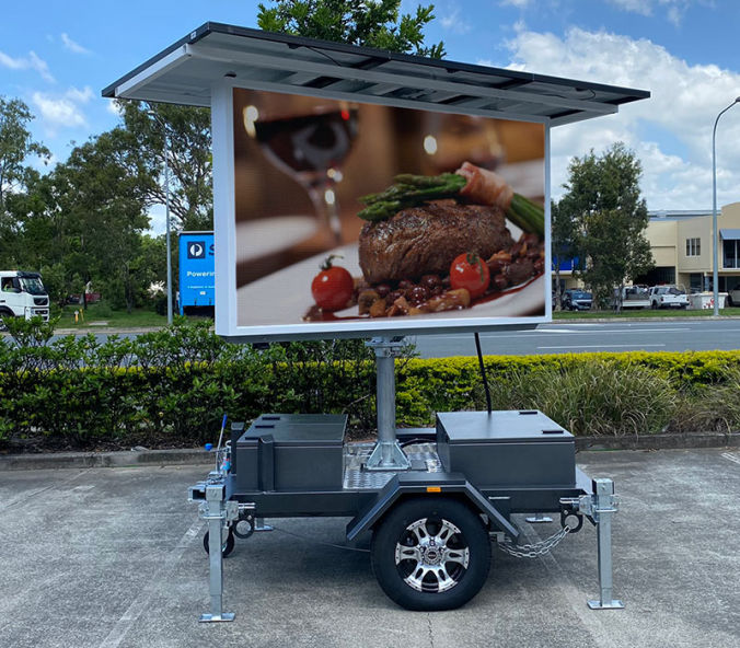 LED Solar Powered Screen Sign Hire - Voxson V4s