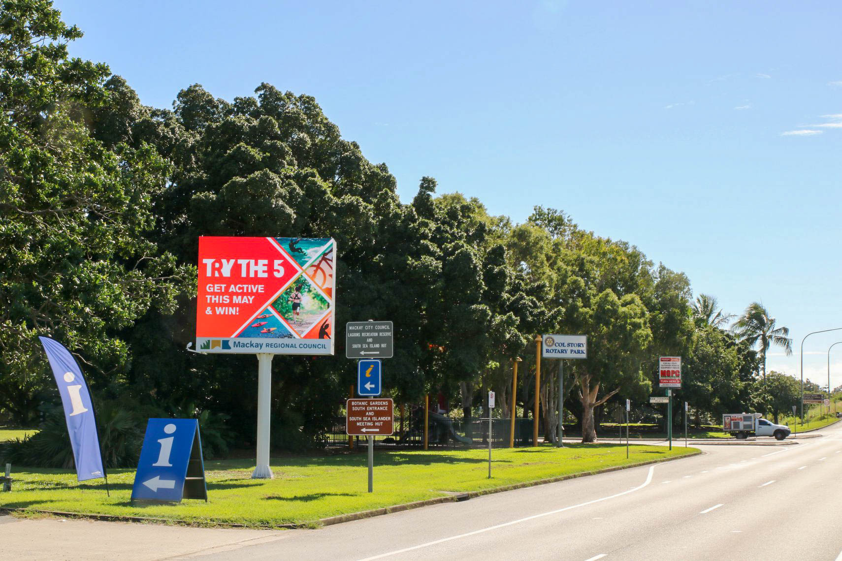 Outdoor Led Screen Sign Mackay Council