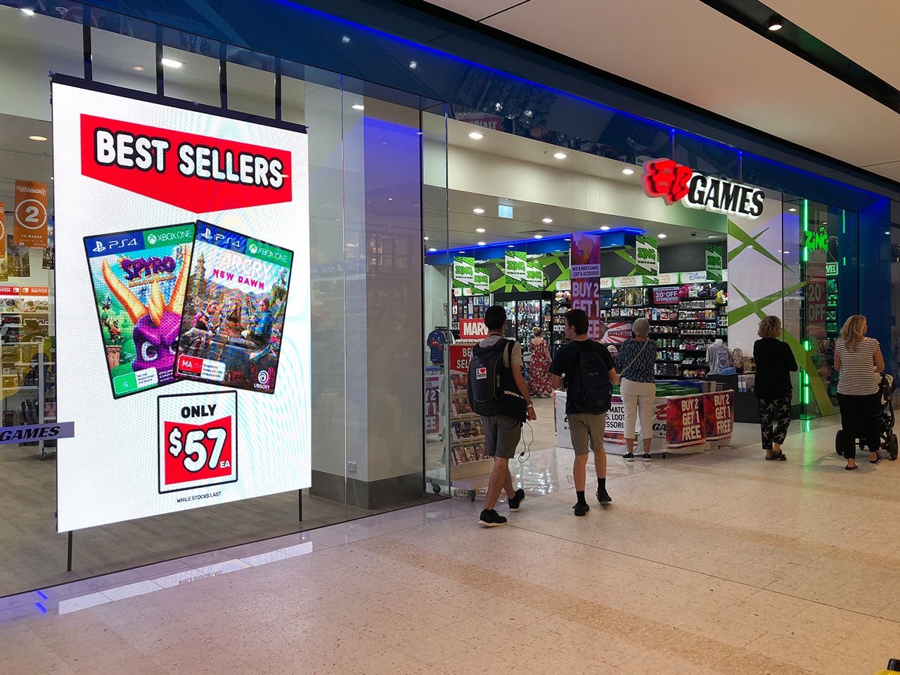 EB Games Sunshine Plaza QLD - In-window Indoor LED Sign