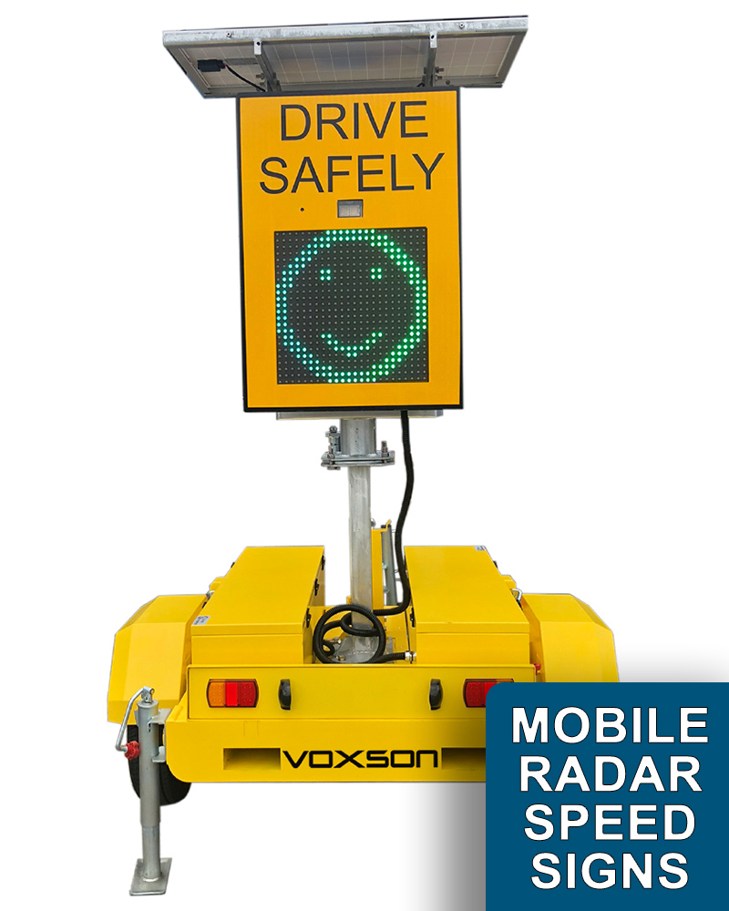Portable/Mobile Solar Trailer Radar Speed Signs