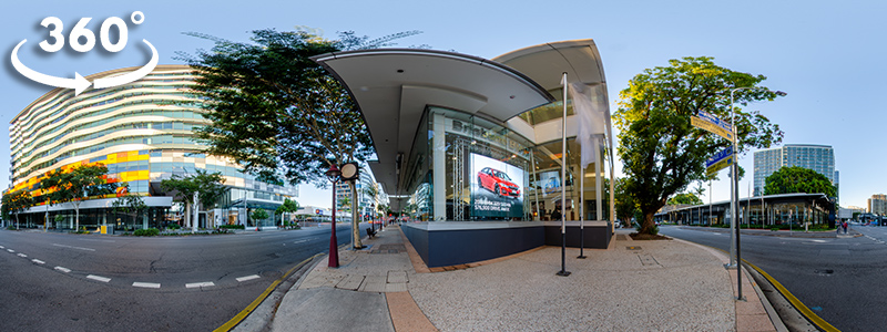 In-window LED Signs - BMW Brisbane - 360 Tour