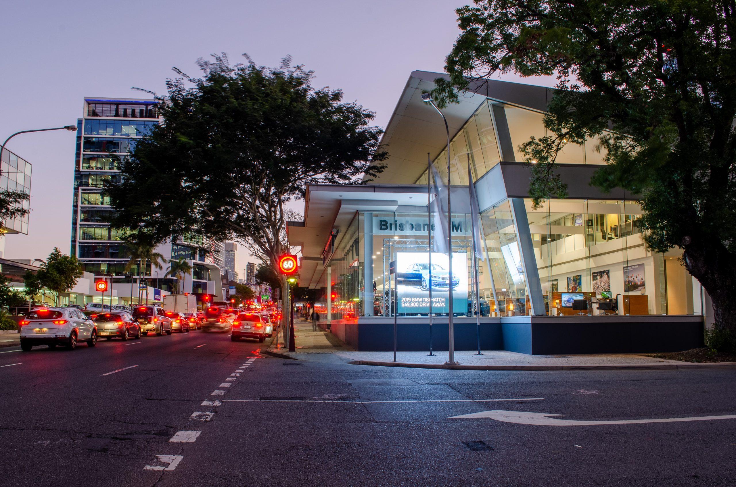 In-window LED Signs - BMW Brisbane - 360 Tour