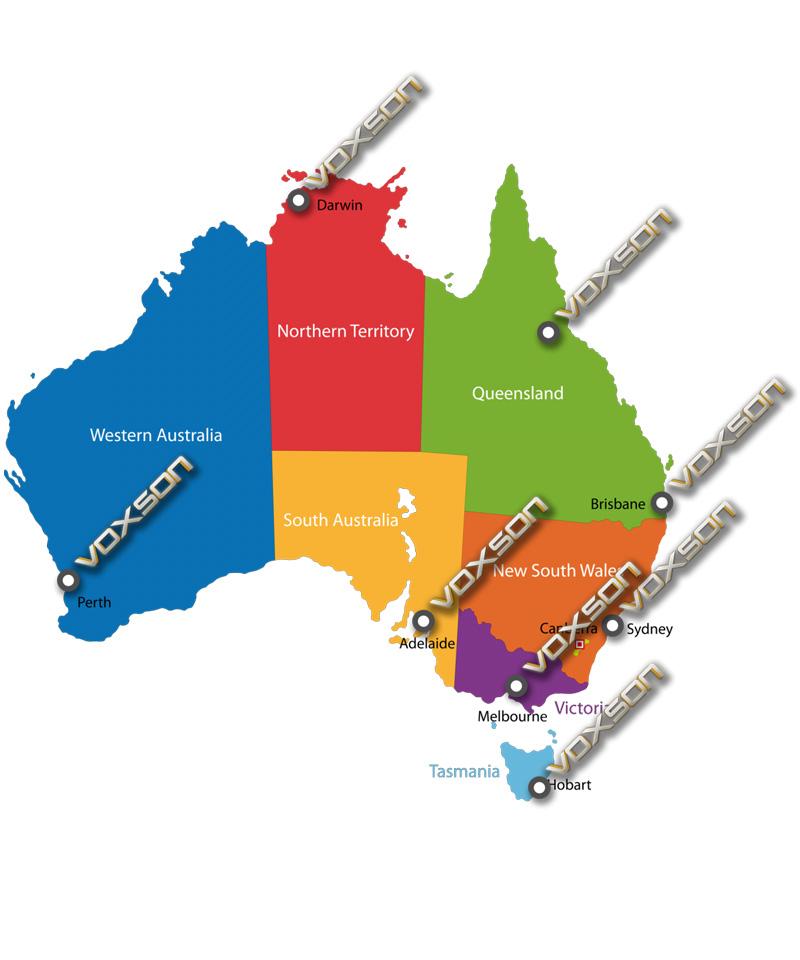 Voxson Australia - Brisbane, Sydney, Melbourne, Townsville, Darwin, Perth, Adelaide, Hobart