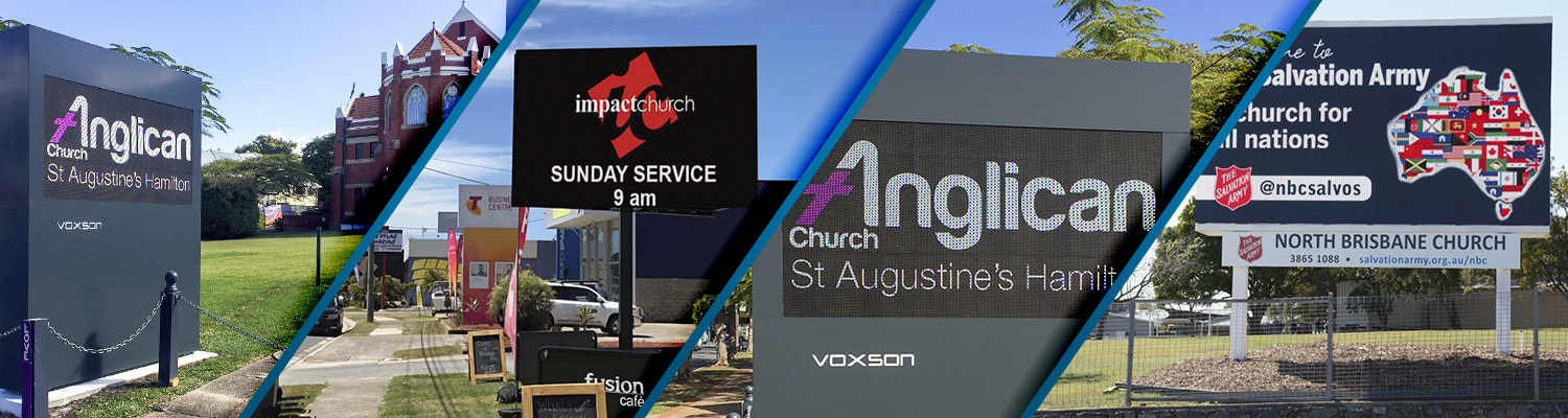 LED Church Signs by Voxson | Digital Signs for Churches & Outdoor Electronic Signs for Churches