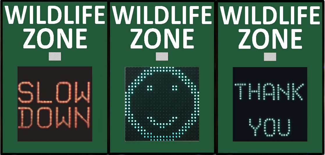 3 Signs Wildlife and Koalas with Koala Crossing and Wildlife Smart Signs