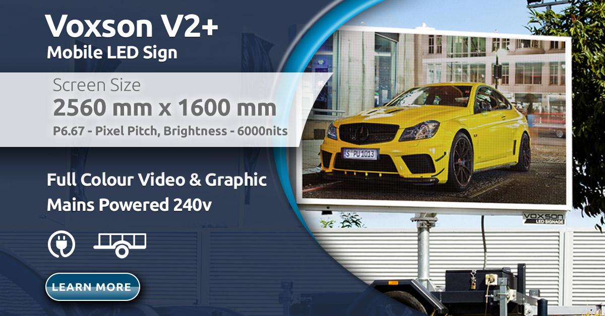 Voxson V2+ P6.67 Mobile Trailer LED Sign