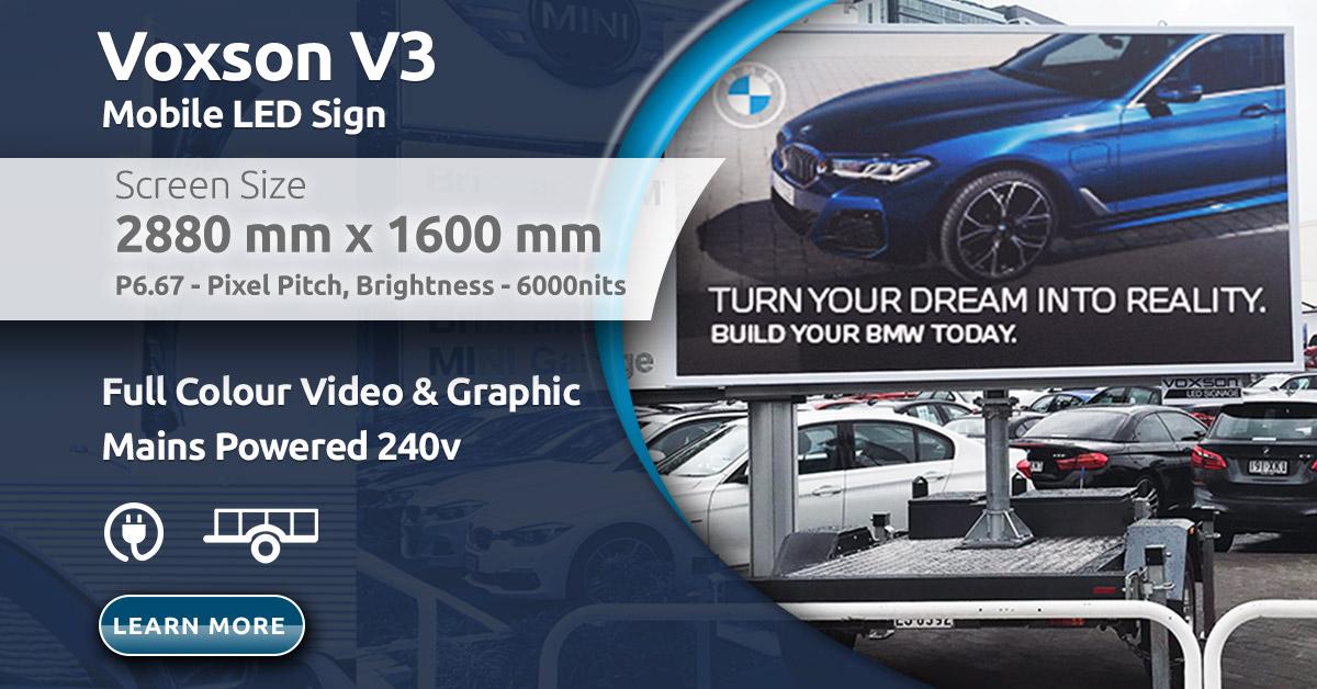 Voxson V3s Mobile Trailer LED Sign