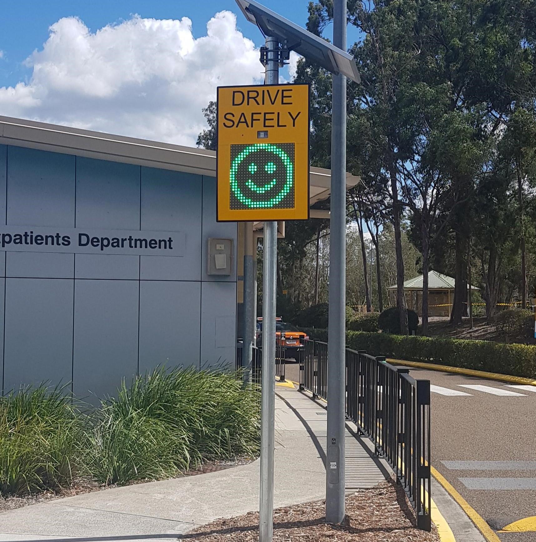 Voxson Radar Speed Sign in Hospital Entrance